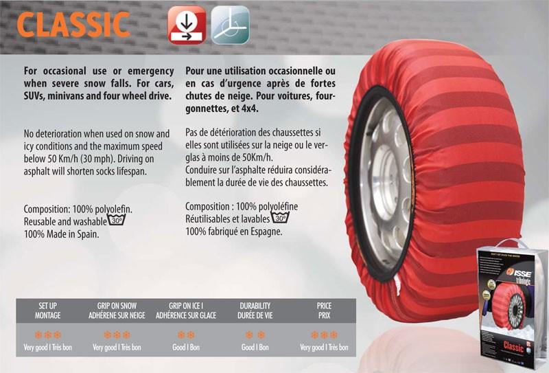 ISSE Tribologic Classic Paire de chaussettes /à neige en tissu Taille/70